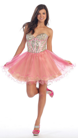 Hand beaded sequins sassy homecoming & party dress- MQ928