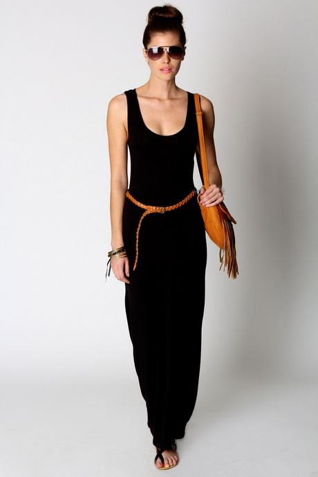 Plain Black Maxi Dress