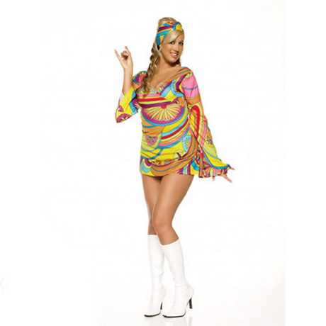 Plus size womens hippie hottie costume