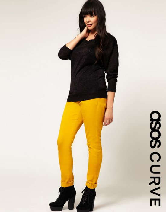 yellow jeans The Best UK Stores for Plus Sizes