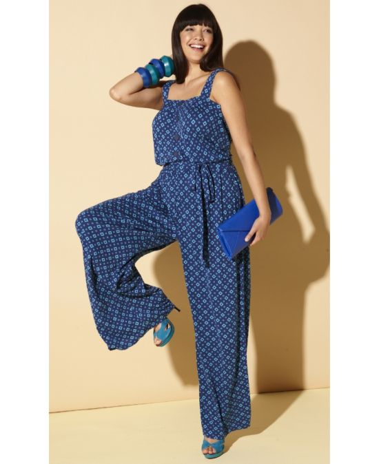 blue jumpsuit The Best UK Stores for Plus Sizes