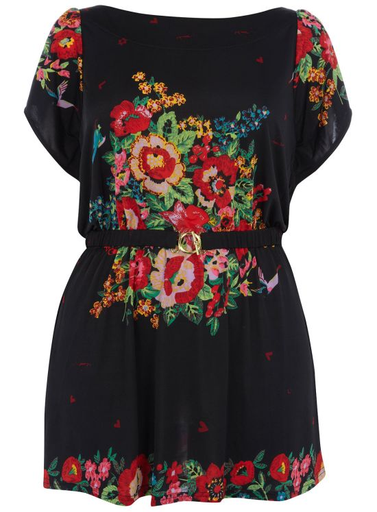 black floral dress The Best UK Stores for Plus Sizes