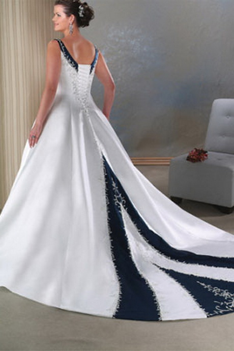 Plus size wedding dresses with color for Colored plus size wedding dresses