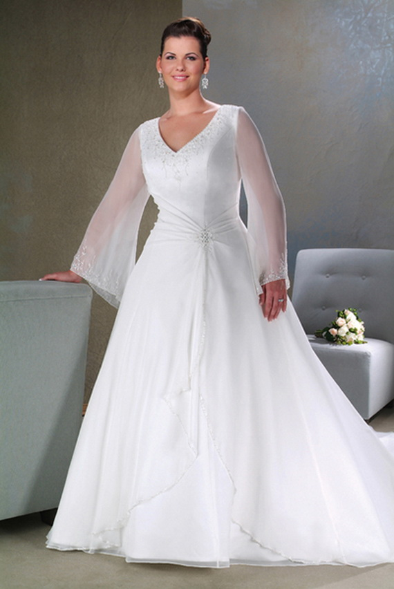 Plus Size Wedding Dresses With Sleeves Uk