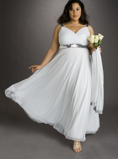 White Plus Size Wedding Dresses Under $100 : Plus size beach wedding dresses