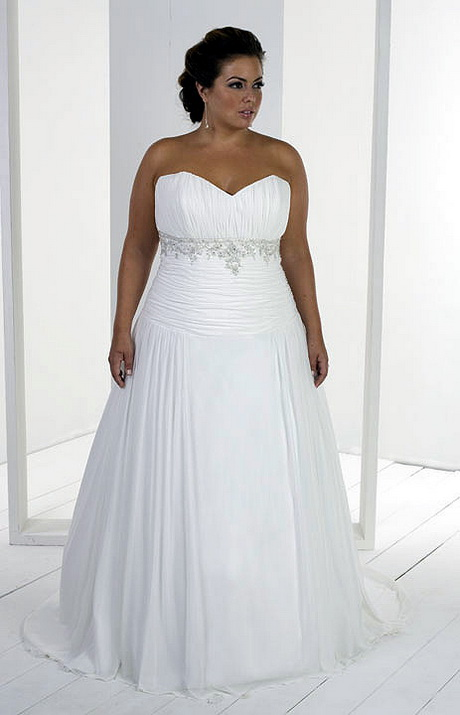 Plus size beach wedding dresses for Wedding dresses for larger sizes