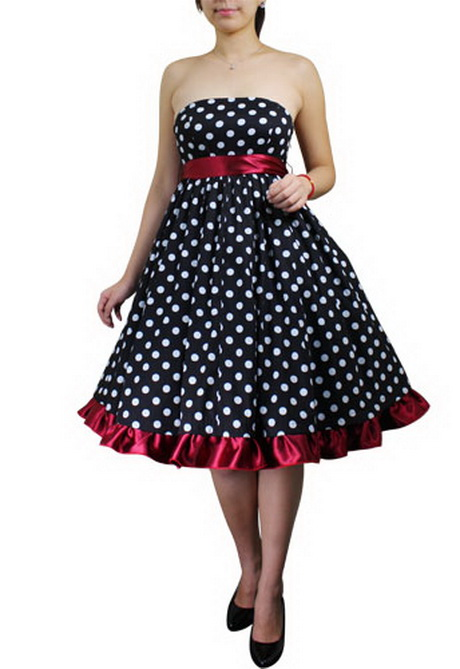 Plus Size 50s Vintage Style Polka Dot Halter Dress Pin Up