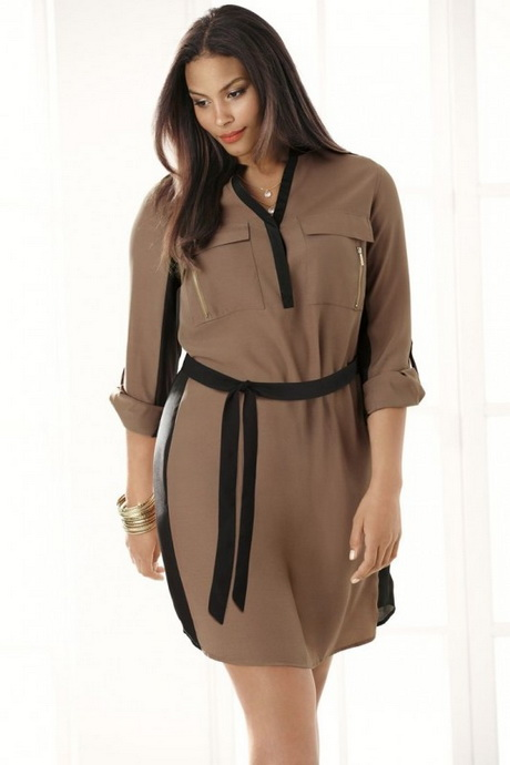 Plus Size Shirt Dresses 119