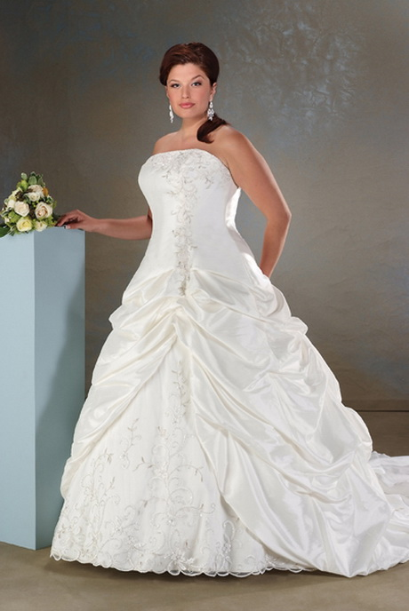 Plus size wedding dresses cheap for Wedding dresses for larger figures