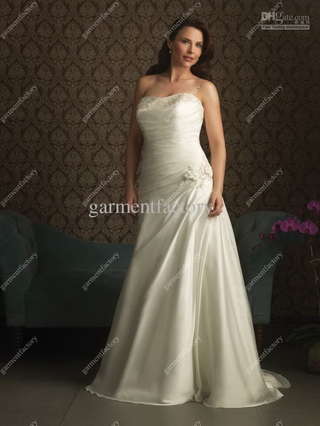 Plus size white dresses for women for Wedding dresses for thick girls