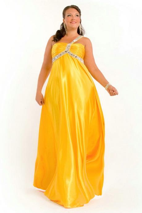 Plus Size Yellow Dresses