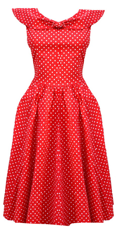 polka dot red dress