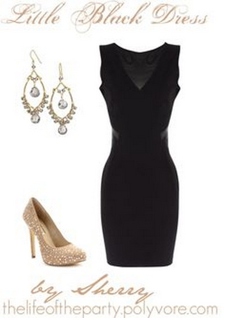 Polyvore little black dress