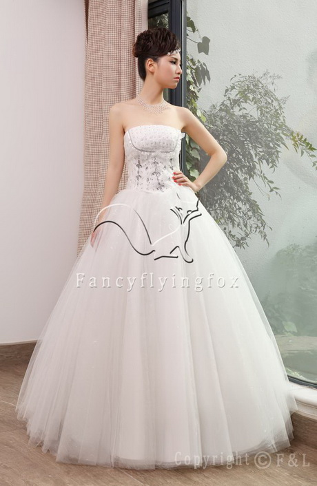 Princess ball gown dresses for Strapless princess ball gown wedding dresses
