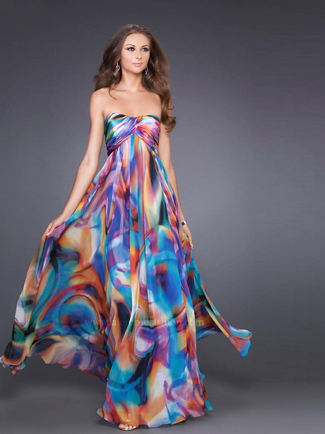 Printed Evening Gowns