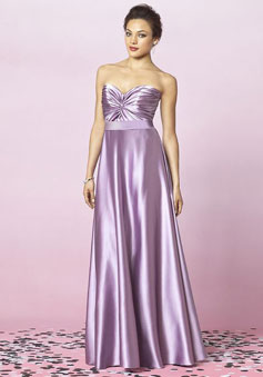 Sweetheart Satin Empire With Pleats Bridesmaid Dress