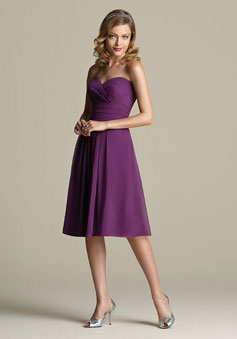 Chiffon A-line Sleeveless Knee-length Bridesmaid Dress