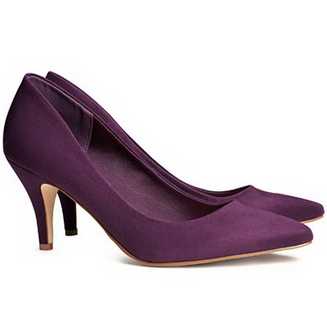 Purple Kitten Heels