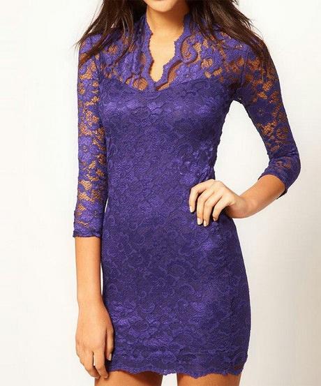 Purple lace dress fashion of la
