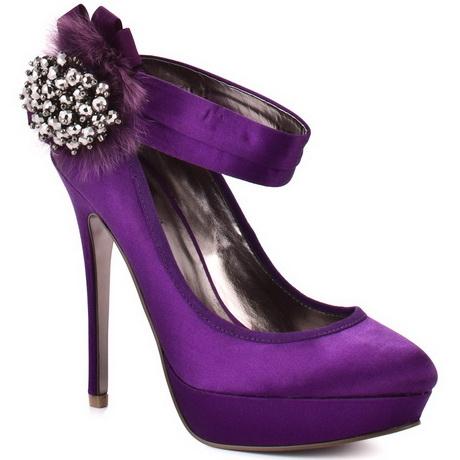 Purple Satin Heels