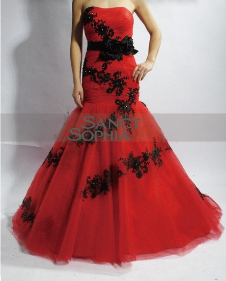 wedding dress black and red wedding dresses design