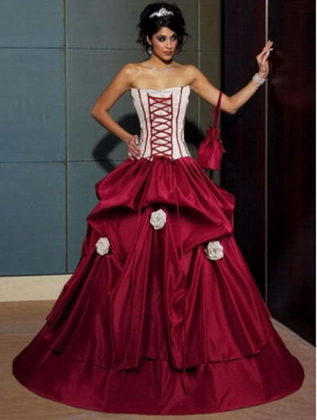 Wedding Dresses With Red And Black : Red and black wedding dresses