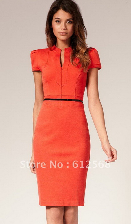 Red Business Dress
