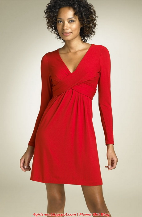 Womens Red Christmas Dress image