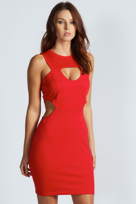 Red Cut Out Dress