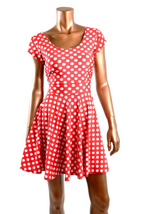 Red Dress White Polka Dots