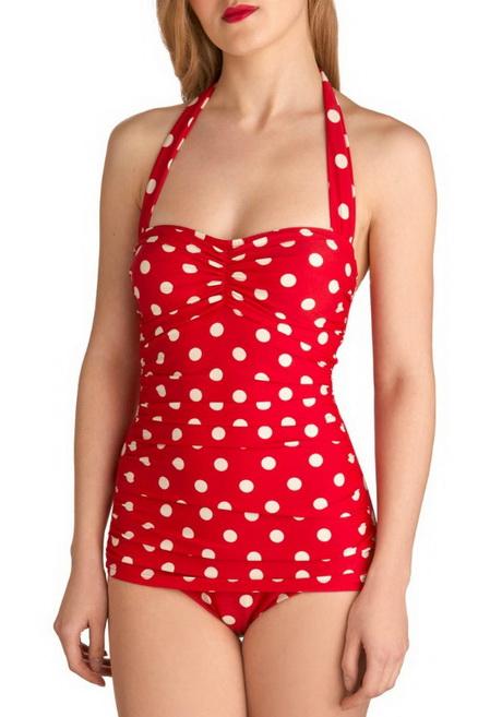 Red Dress White Polka Dots