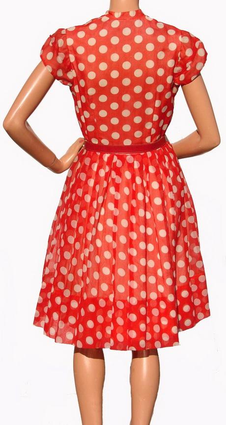 Galerry red white polka dot dress