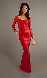 Buy Long Sleeved Floor Length Dress at SimplyDresses