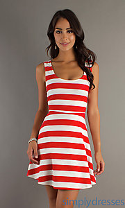 Buy Sleeveless Scoop Neck Striped Summer Dress at SimplyDresses