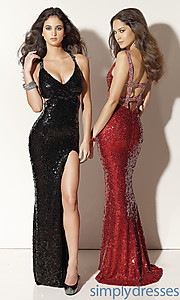 Buy Sleek & Sexy Sequin Evening Gown at SimplyDresses