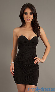 Buy Short Sexy Ruched Dress at SimplyDresses