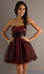 Buy Short Strapless A-Line Tulle Dress at SimplyDresses