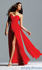 Buy Strapless Sweetheart Faviana Dress at SimplyDresses