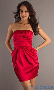Buy Short Holiday Red Party Dress at SimplyDresses