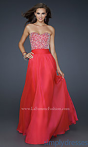 Buy La Femme 17498 Strapless Dress at SimplyDresses