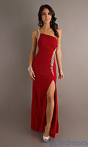 Buy Long One Shoulder Dress at SimplyDresses