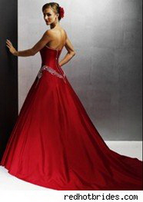 Red dresses for weddings for Wedding dress color meanings