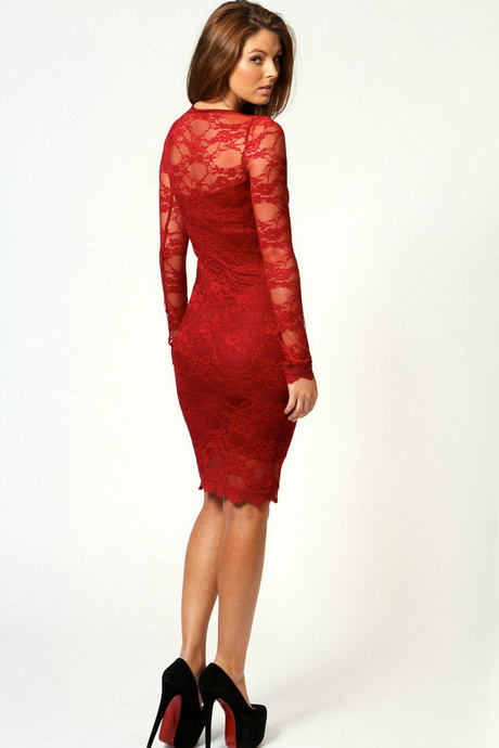 Long sleeve lace cocktail dresses