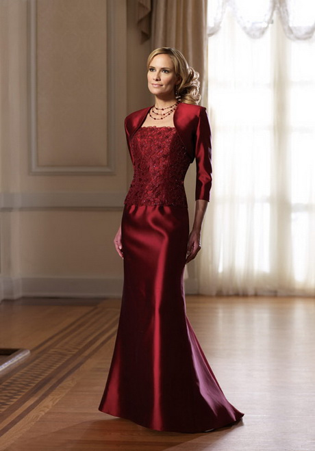 Red mother of the bride dresses for Wedding dress mother of the groom