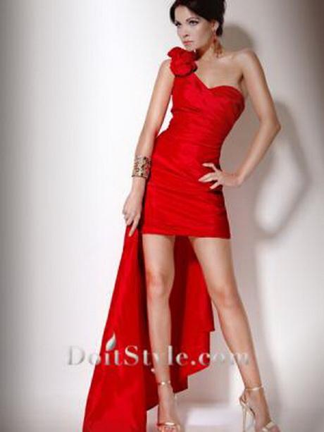 red one shoulder cocktail dresses