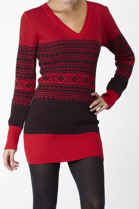 Red Sweater Dress