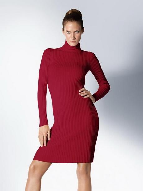 White Turtleneck Sweater Dress