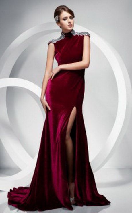Red Velvet Evening Dresses