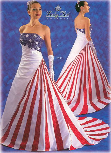 Red white and blue dress for Wedding dresses in the usa