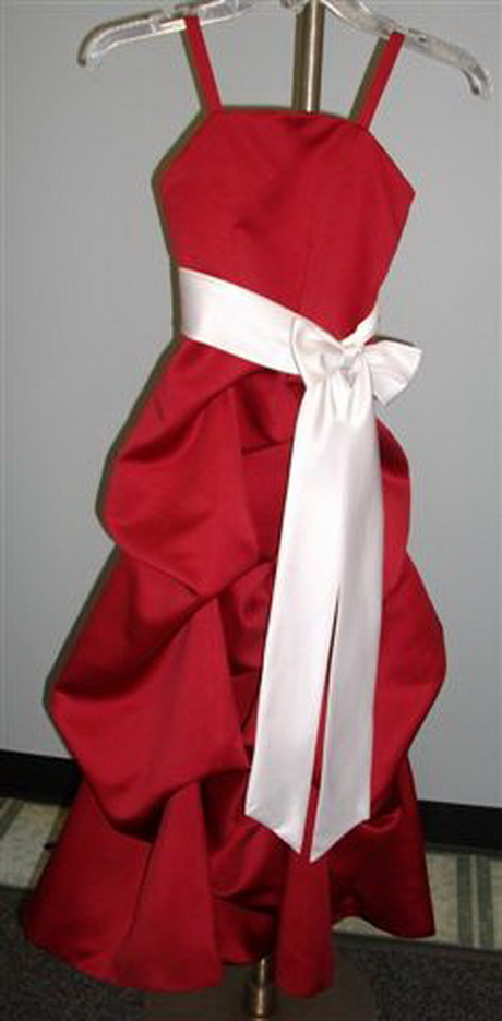 Cheap red and white bridesmaid dresses flower girl dresses for Cheap white and red wedding dresses